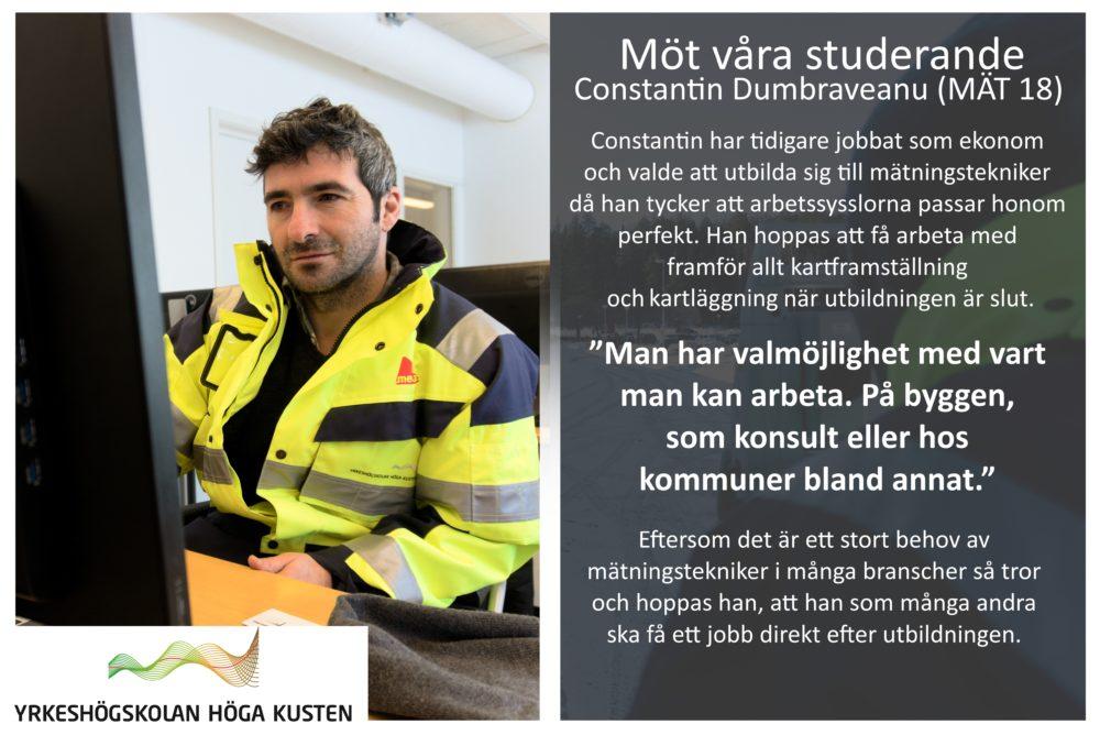 Banner - Möt våra studerande - Constantin