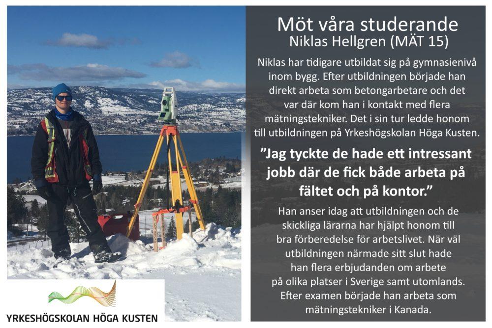 Banner - Möt våra studerande - Niklas