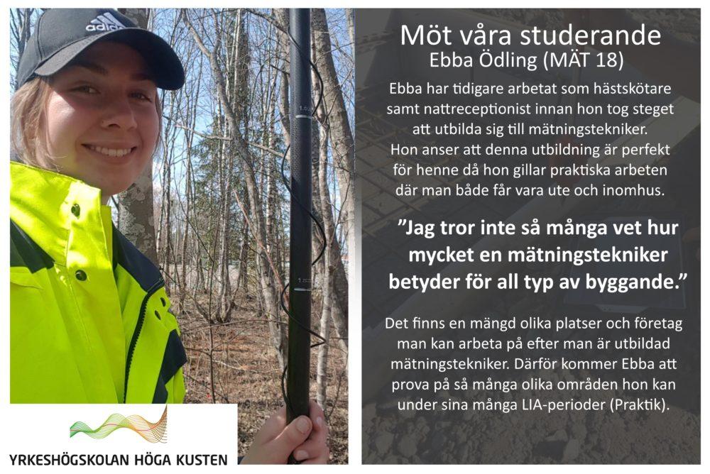 Banner - Möt våra studerande - Ebba